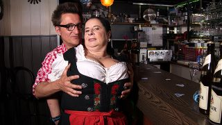 Big breasted german Abby Tits fucking and sucking at a local Bavarian Bar