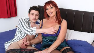 Horny cougar Beau Diamonds will learn her toy boy some new tricks
