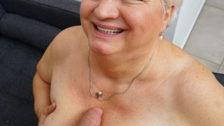 Dirty grandma Babet blows her toyboy and gets fucked
